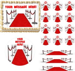 Hollywood Red Carpet Glam Edible Cake Topper Image Cake Decoration Cupcakes