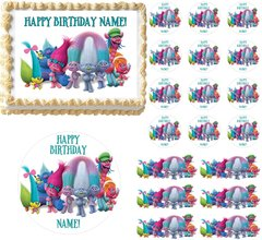 Trolls Edible Cake Topper Image Frosting Sheet Cake Decoration