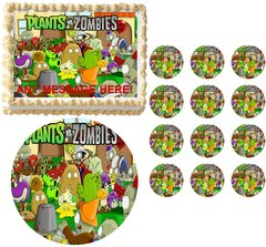 Plants vs Zombies Edible Cake Topper Image Frosting Sheet