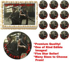 Walking Dead RICK AND DARYL Edible Cake Topper Image Frosting Sheet