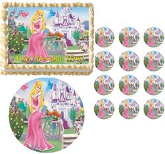 Aurora Sleeping Beauty Edible Cake Topper Image Frosting Sheet