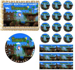 TERRARIA Party Edible Cake Topper Image Frosting Sheet