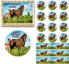 Amazing Beautiful Horses EDIBLE Cake Topper Image Frosting Sheet Cupcakes Horse