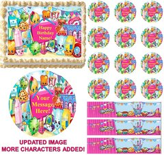 SHOPKINS Characters Edible Cake Topper Image Frosting Sheet Cake Decoration