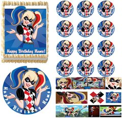 Suicide Squad Harley Quinn Class Clown Edible Cake Topper Image Frosting Sheet