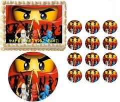 NINJAGO RED NINJA Edible Cake Topper Image Frosting Sheet