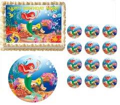 Little Mermaid ARIEL Edible Cake Topper Image Frosting Sheet Decoration