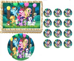MY LITTLE PONY Party Edible Cake Topper Image Frosting Sheet