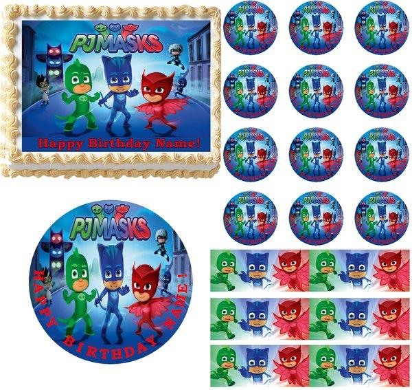 PJ Masks Edible Cake Topper Image Frosting Sheet Cake ...