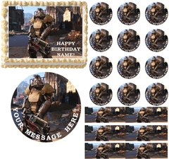 Fallout 4 Gaming Edible Cake Topper Image Frosting Sheet