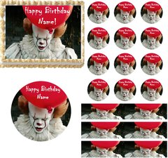 Creepy Scary Clown Edible Cake Topper Image Cupcakes Clown Cake Pennywise Cake