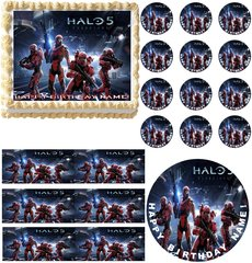 Halo 5 Video Gaming Edible Cake Topper Image Frosting Sheet Decoration