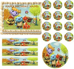 Wallykazam Characters Edible Cake Topper Image Frosting Sheet