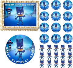 PJ Masks CATBOY Edible Cake Topper Image Frosting Sheet Cake Decoration