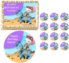 SHERIFF CALLIE'S WILD WEST on Horse Edible Cake Topper Image Frosting Sheet