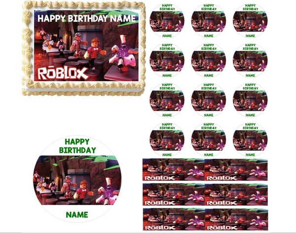 Roblox Characters Edible Cake Topper Image Cake Decoration Roblox Party Cake
