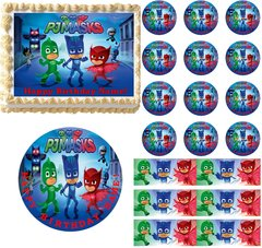 PJ Masks Edible Cake Topper Image Frosting Sheet Cake Decoration
