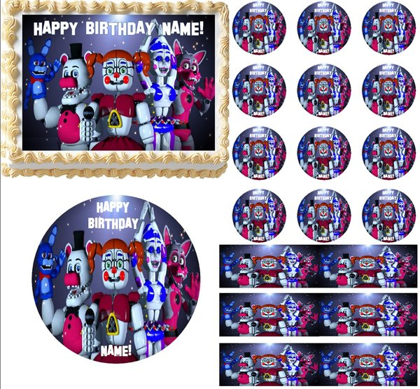 Five Nights At Freddy S Sister Location Edible Cake Topper