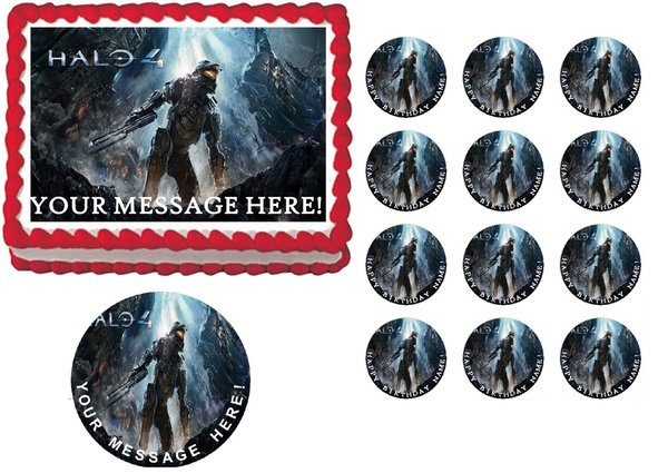 Halo 4 Gaming Edible Cake Topper Image Frosting Sheet Cake ...