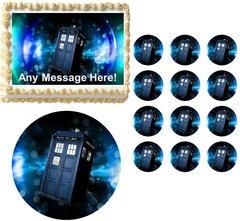 DOCTOR WHO TARDIS Normal Edible Cake Topper Image Frosting Sheet