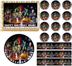 Jedi STAR WARS Edible Cake Topper Image Frosting Sheet Cake Decoration