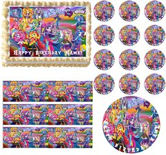 My Little Pony Equestria Girls RAINBOW ROCKS Edible Cake Topper Image Frosting Sheet