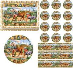 Jurassic World Dinosaurs Edible Cake Topper Image Frosting Sheet