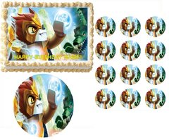 Legends of Chima Edible Cake Topper Image Frosting Sheet Cake Decoration