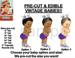 PRE-CUT Royal Purple and Silver Little Prince Baby EDIBLE Cake Topper Image Shoe