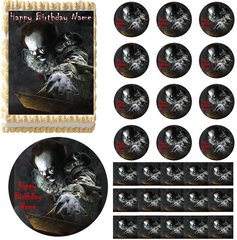 Creepy Scary Clown Edible Cake Topper Image Cupcakes Clown Boat Cake Pennywise Cake