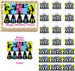 Cheerleading Cheer Edible Cake Topper Image Frosting Sheet Cake Decoration