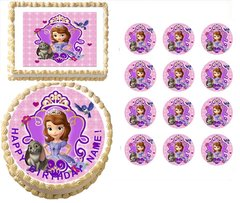 SOFIA the PRINCESS Wearing Crown Edible Cake Topper Image Frosting Sheet