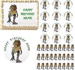 Dinosaur T Rex Edible Cake Topper Image Frosting Sheet Cupcakes T Rex Cake