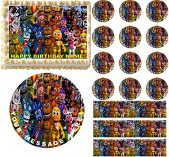 FIVE NIGHTS AT FREDDY'S World Edible Cake Topper Image Frosting Sheet