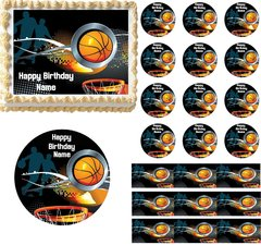 Basketball Sports Edible Cake Topper Image Basketball Cupcakes Edible Cake Image