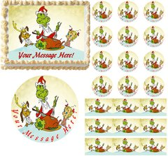 HOW the GRINCH STOLE CHRISTMAS Max Cindy Edible Cake Topper Image Frosting Sheet