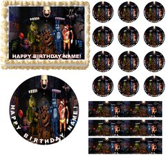 FIVE NIGHTS AT FREDDY'S Characters Edible Cake Topper Image Frosting Sheet