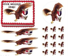 Eagle Scout Court of Honor Ceremony Eagle Fly Edible Cake Topper Image Frosting Sheet