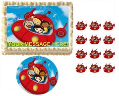 Little Einsteins Rocket Ship Music Notes Edible Cake Topper Image Frosting Sheet