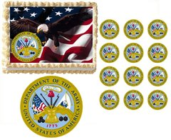 United States ARMY Military Edible Cake Topper Image Frosting Sheet