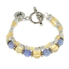 Air Element Double Strand Toggle Bracelet