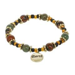 Earth Element Beaded Stretch Bracelet