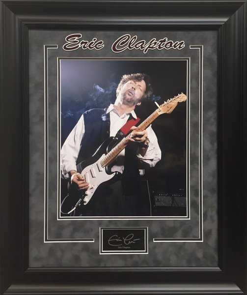 eric clapton photo framed with autograph replica autographed framed memorabilia collectibles. Black Bedroom Furniture Sets. Home Design Ideas