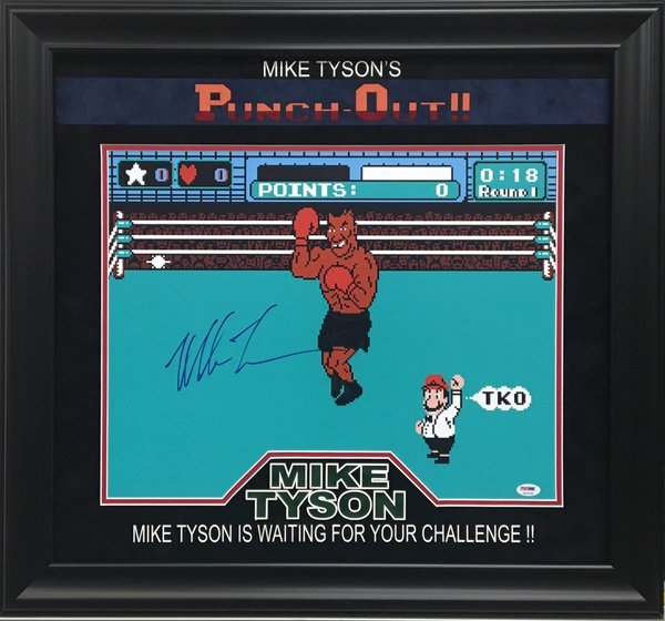 Mike Tyson Punch Out Signed 16x20 Photo Autographed