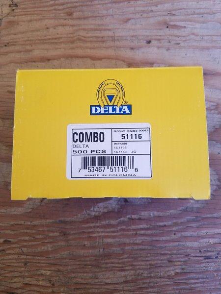 Delta Nail Combo 5 Slim - 500 Count Box