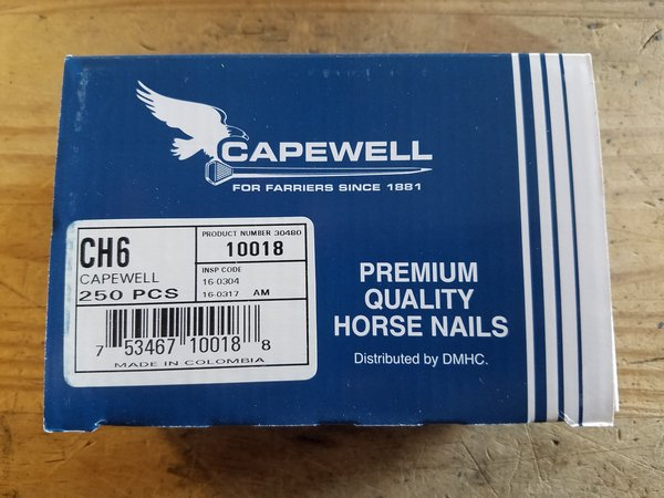 Capewell Nail City Head 6 - 250 Count Box