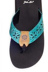 Yellow Box Damara Sandal in Turquoise-SALE