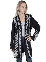 Scully 3/4 Length Jacket W/Cream Embroidery-SALE