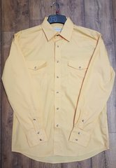 Roper Yellow Snap Long Sleeve