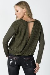 MIss Me Knit open-back printed top